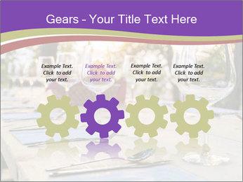 Huge Dinner Table Outside PowerPoint Template - Slide 48