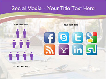 Huge Dinner Table Outside PowerPoint Template - Slide 5