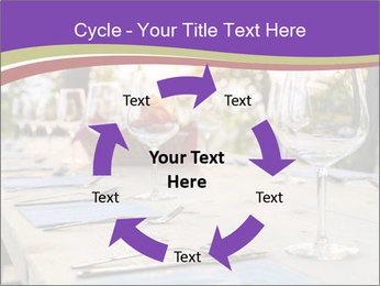 Huge Dinner Table Outside PowerPoint Template - Slide 62