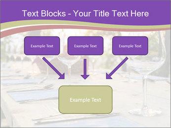 Huge Dinner Table Outside PowerPoint Template - Slide 70