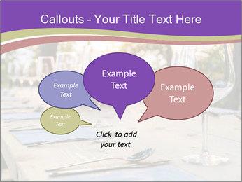 Huge Dinner Table Outside PowerPoint Template - Slide 73