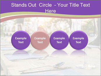 Huge Dinner Table Outside PowerPoint Template - Slide 76