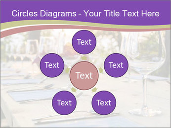 Huge Dinner Table Outside PowerPoint Template - Slide 78