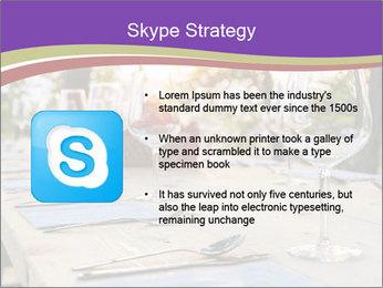 Huge Dinner Table Outside PowerPoint Templates - Slide 8