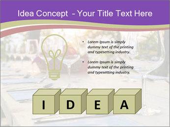 Huge Dinner Table Outside PowerPoint Template - Slide 80