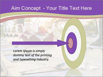 Huge Dinner Table Outside PowerPoint Template - Slide 83