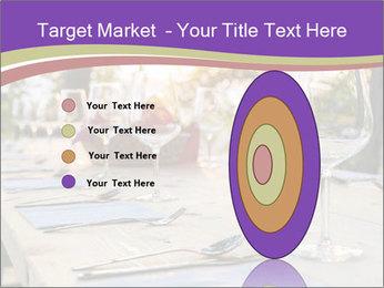 Huge Dinner Table Outside PowerPoint Template - Slide 84
