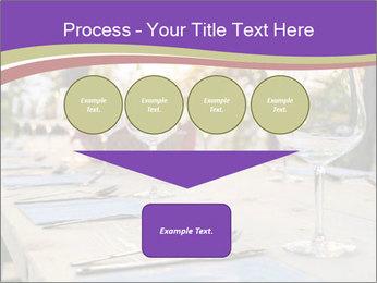Huge Dinner Table Outside PowerPoint Template - Slide 93