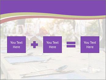 Huge Dinner Table Outside PowerPoint Template - Slide 95