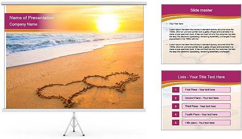 Honeymoon Beach PowerPoint Template