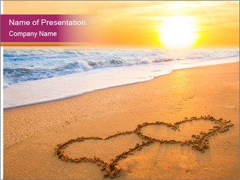Honeymoon Beach PowerPoint Template - Slide 1