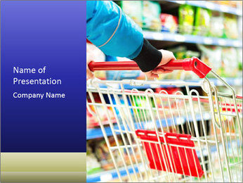 Shopping In Supermarket PowerPoint Template - Slide 1