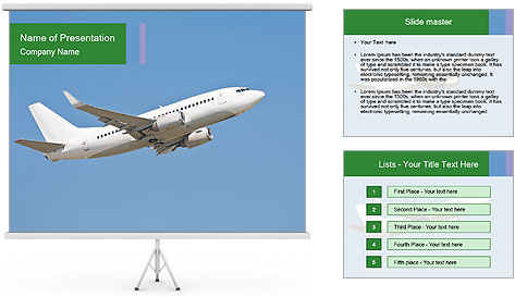 White Plane PowerPoint Template