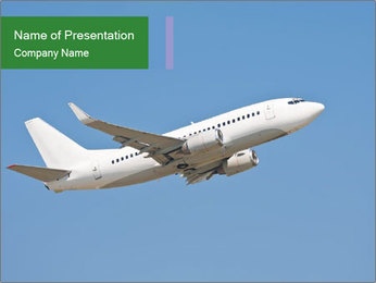White Plane PowerPoint Template - Slide 1