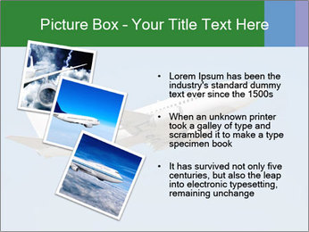 White Plane PowerPoint Template - Slide 17