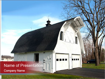 Village Barn PowerPoint Template
