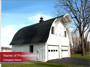 Village Barn PowerPoint Template - Slide 1