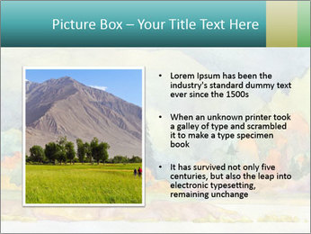 Colorful Landscape Painting PowerPoint Template - Slide 13
