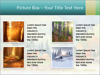 Colorful Landscape Painting PowerPoint Template - Slide 14