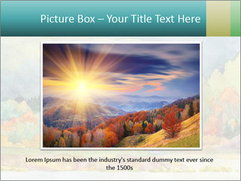 Colorful Landscape Painting PowerPoint Template - Slide 16