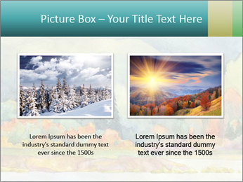 Colorful Landscape Painting PowerPoint Template - Slide 18