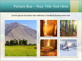 Colorful Landscape Painting PowerPoint Template - Slide 19