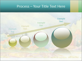 Colorful Landscape Painting PowerPoint Template - Slide 87