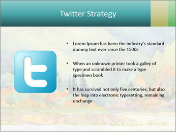 Colorful Landscape Painting PowerPoint Template - Slide 9