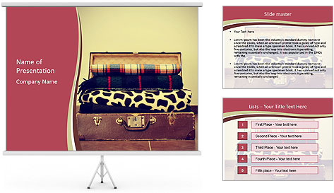Retro Travelling Bag PowerPoint Template