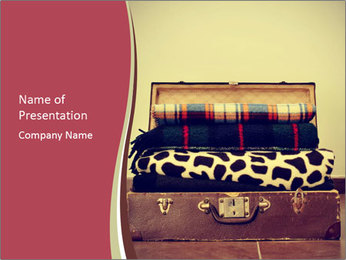 Retro Travelling Bag PowerPoint Template - Slide 1