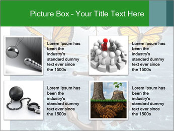 Butterflies And Anchor PowerPoint Templates - Slide 14
