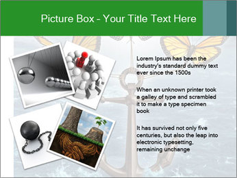 Butterflies And Anchor PowerPoint Template - Slide 23