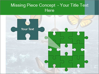 Butterflies And Anchor PowerPoint Template - Slide 45