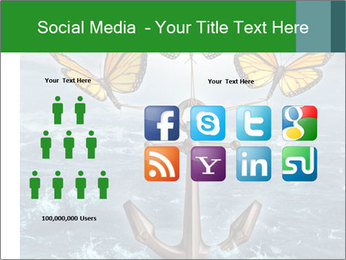 Butterflies And Anchor PowerPoint Template - Slide 5