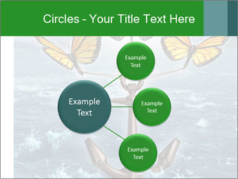 Butterflies And Anchor PowerPoint Template - Slide 79