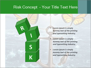 Butterflies And Anchor PowerPoint Template - Slide 81