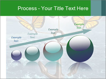 Butterflies And Anchor PowerPoint Template - Slide 87