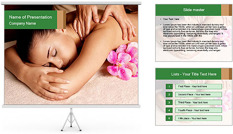 Relaxing Spa Massage PowerPoint Template
