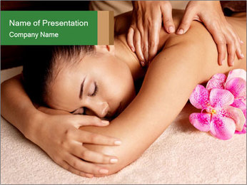 Relaxing Spa Massage PowerPoint Template - Slide 1