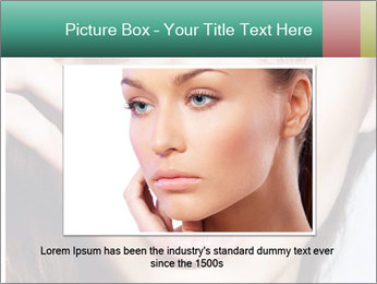 Woman With Natural Makeup PowerPoint Template - Slide 15