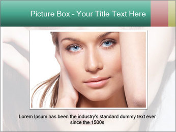 Woman With Natural Makeup PowerPoint Template - Slide 16