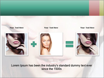 Woman With Natural Makeup PowerPoint Template - Slide 22