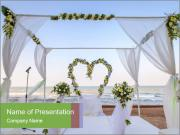 Wedding Decor On Beach PowerPoint Templates