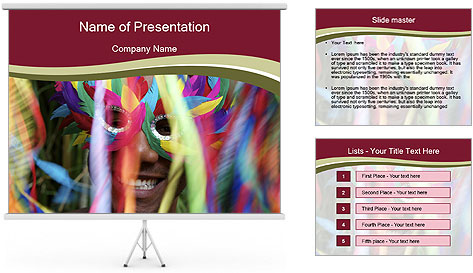 Dancing People In Motion PowerPoint Template