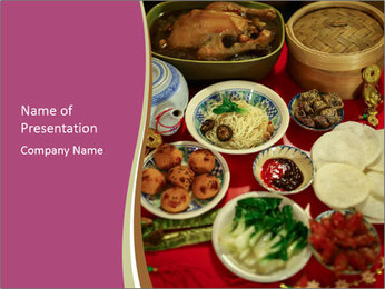 Traditional Chinese Dinner PowerPoint Template - Slide 1