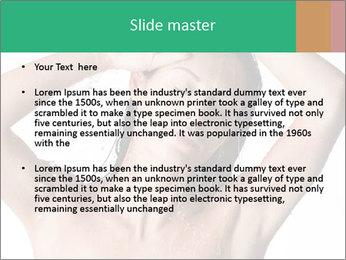 Sensual Woman In Bathroom PowerPoint Template - Slide 2