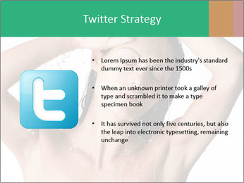 Sensual Woman In Bathroom PowerPoint Template - Slide 9
