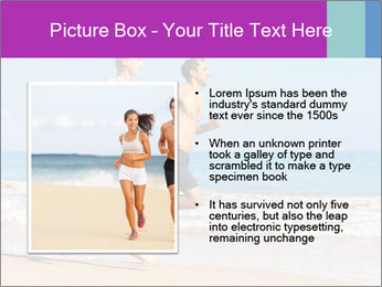 Couple Jogging On Beach PowerPoint Templates - Slide 13