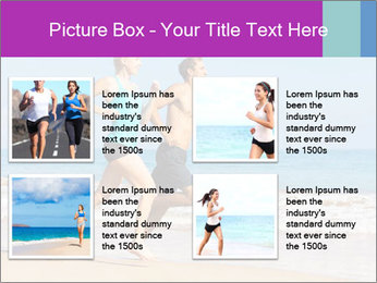 Couple Jogging On Beach PowerPoint Templates - Slide 14