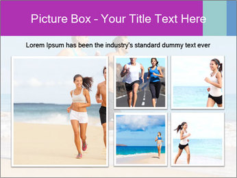 Couple Jogging On Beach PowerPoint Templates - Slide 19
